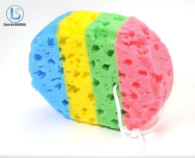 Bath Loofah Soft Oval Bath Sponge Body Wash Brush Scrubber