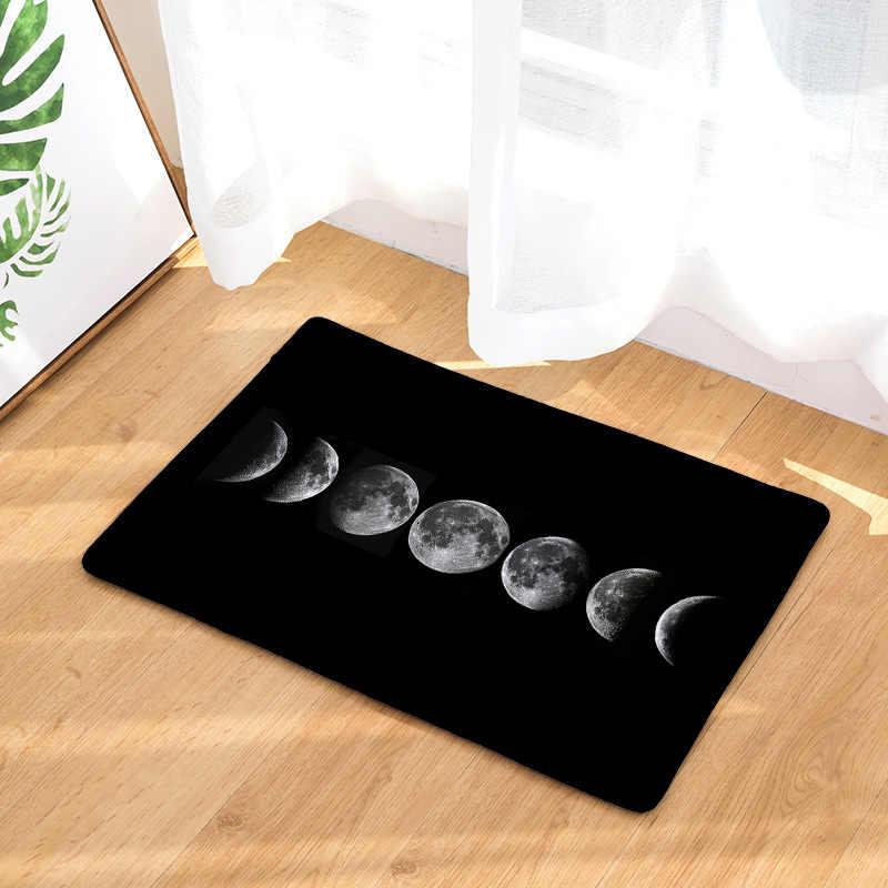 CAMMITEVER Moon Wolf แม่มดฉากกลางคืนฮาโลวีนพรมพรมกันลื่นพรมหน้าแรกห้องนอน Pad ตกแต่ง