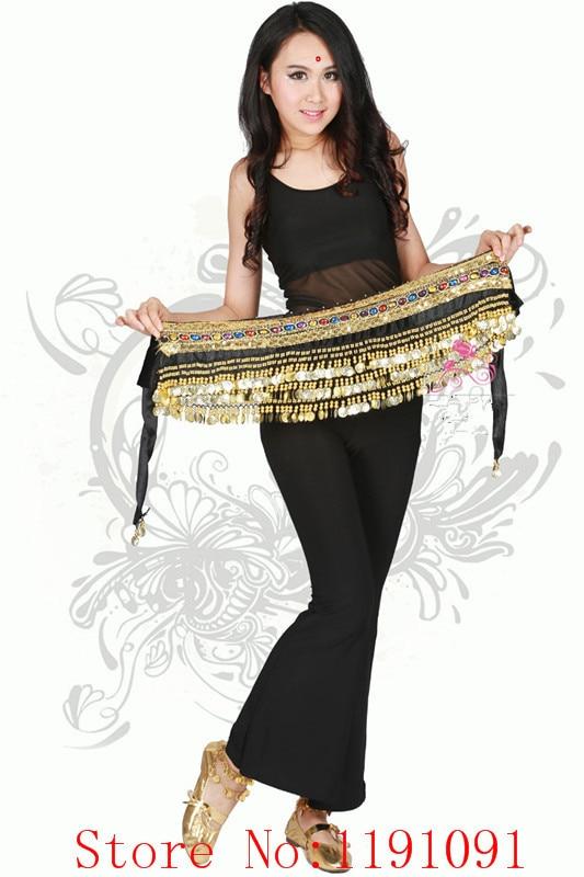 Traje de la danza del vientre Ropa danza India danza cinturón cadena de la  cintura hip bufanda danza de la muchacha de las mujeres con 248 monedas 796302693369