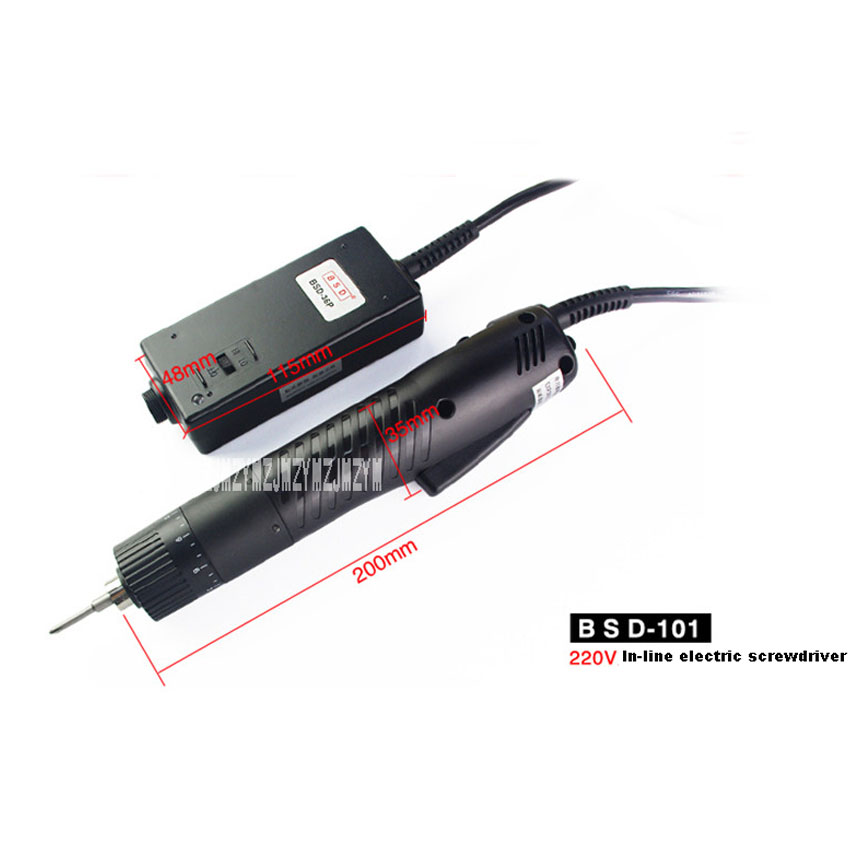 цена на New Arrival BSD-101 Electric Batch Electric Screw Driver Straight Type Electric Screwdriver with Power Supply 36W 1100r/min 220V