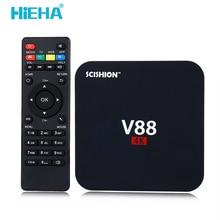 Hieha RK3229 V88 Android Tv Box 1G 8G Quad-core Mali-400 Android 5.1 Kodi 4 K HD Smart Tv box WIFI HDMI 2.0