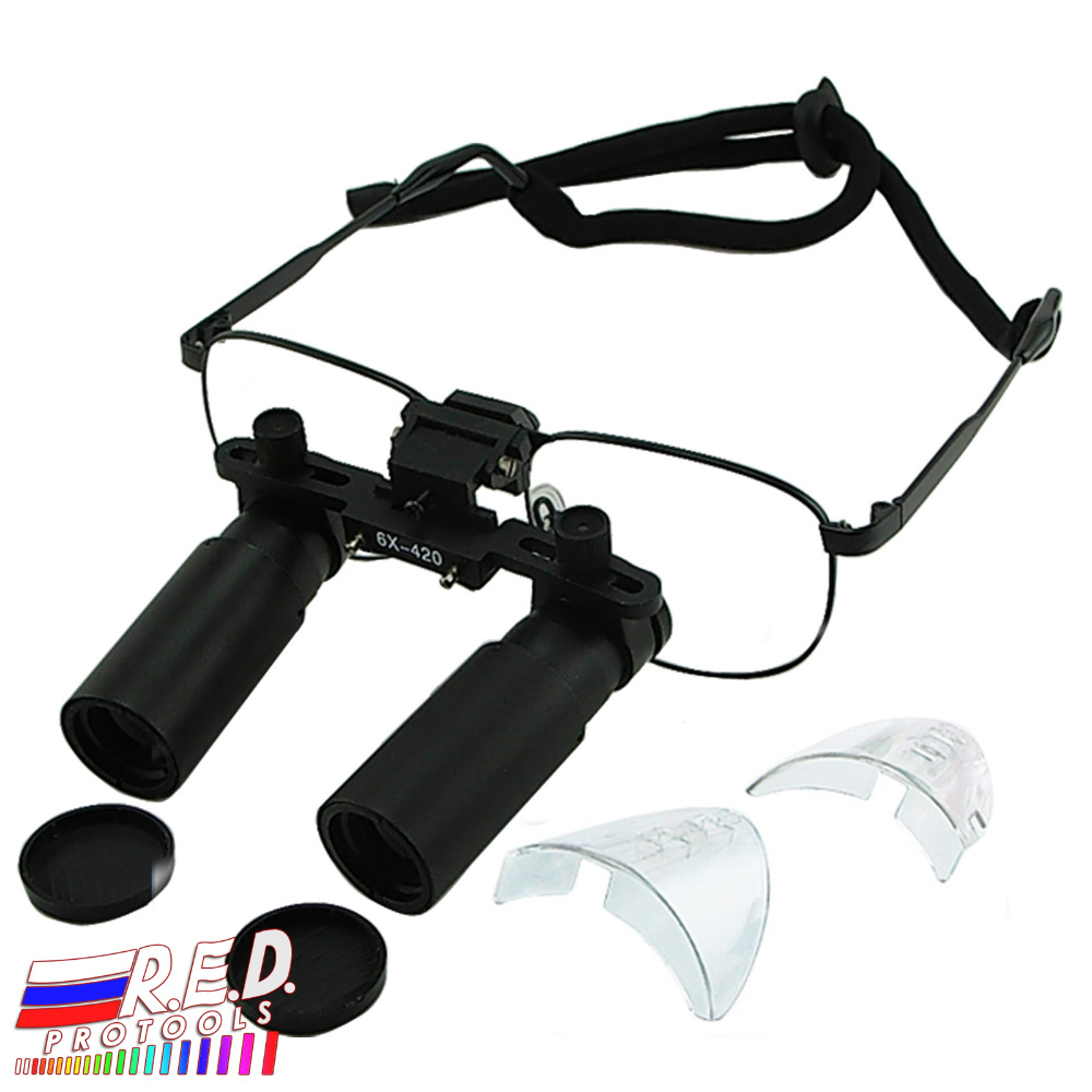 Keplerian Prism Style 6.0x 6x Magnification Titanium Frame Binocular Dental Loupes Surgical Medical Dentistry 420mm jay beagle r surgical essentials of immediate implant dentistry