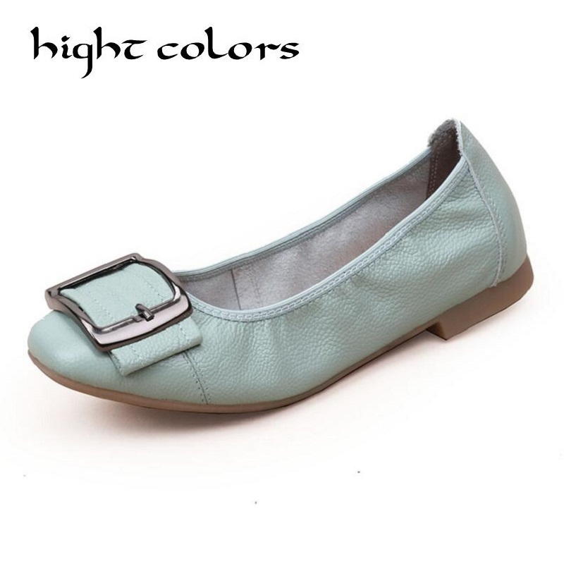 2018 Hot Genuine Leather Shoes Women Butterfly-knot Loafers Women Flats Ballet Spring Autumn Casual Flat Shoes Woman Moccasins hot sale mens italian style flat shoes genuine leather handmade men casual flats top quality oxford shoes men leather shoes