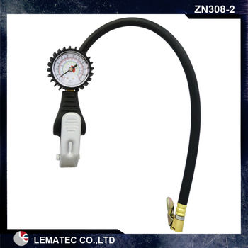 LEMAEC Tire Inflator With Gauge Tire repair tools Tyre inflating gun For car truck vehicle inflation