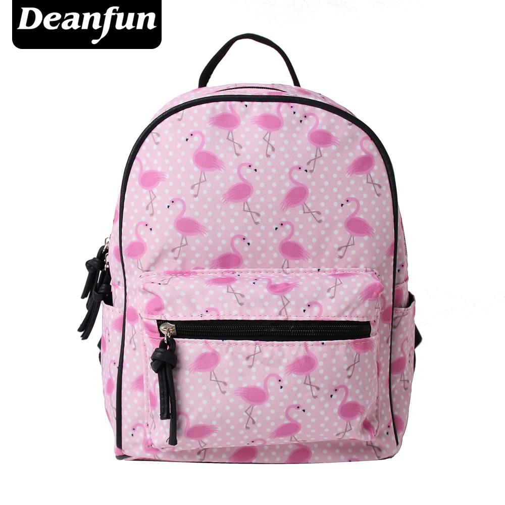 Deanfun School Backpack Shoulder Bag Mini Backpacks 3D Printed Pink Flamingo Fashion for Teenagers Girls XSB-1 рюкзак zipit zipper backpack pink brown zbpl 1