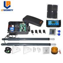 20W solar panel system 200kg per leaf Support solar system 12VDC Automatic Swing Gate motor Opener Kit for light Swing Gates