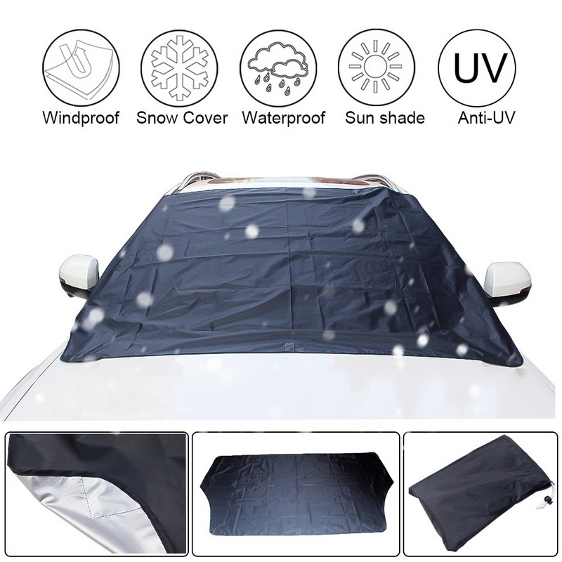 210*120cm Car Magnet Windshield Windscreen Cover Automobile Snow Ice Frost Wind Dust Protector Visor Sun Shade Fornt Rear Covers