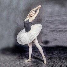 child professional Ballet Tutus adult Black Stiff pancake half Ballet Tutu Tulle Practice Tutu Skirts Kid White Platter Tutu