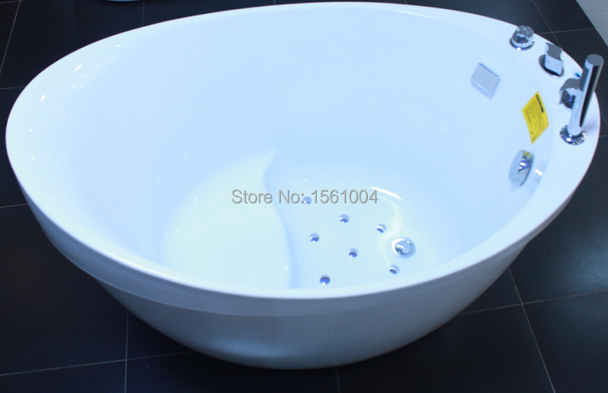 Smart Bubble Bath Tub with Wood, Air Bubble Massage Bathtub Adults ...