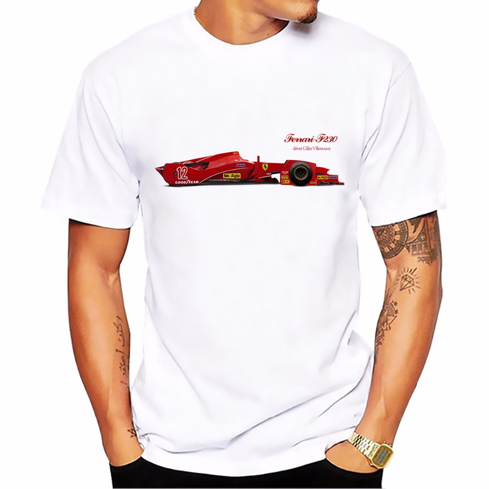 The Gold Tyre Cup series F1 cars design t shirt new Breathable tshirt man Short Sleeve Plus Size T-shirt men