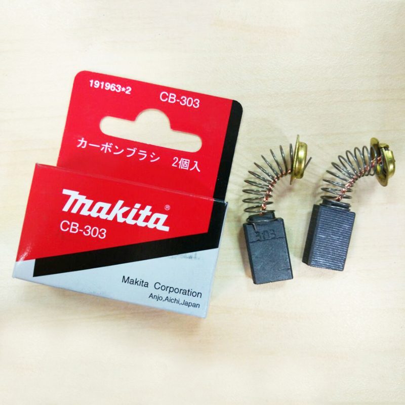1 Pair Original Makita Carbon Brushes For Electric Motors CB 303 CB303 FOR 9227 POLISHER 5x11x17mm
