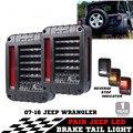 Pair 07-16 J eeep Wrangler JK LED Tail Lights Brake Rear Signal Reverse Lamp with European Function
