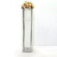80 cm Srebrny Drogowego Ślub centralnym Ślubu Prowadzi, Kryształ Filar Bankiet Dostaw