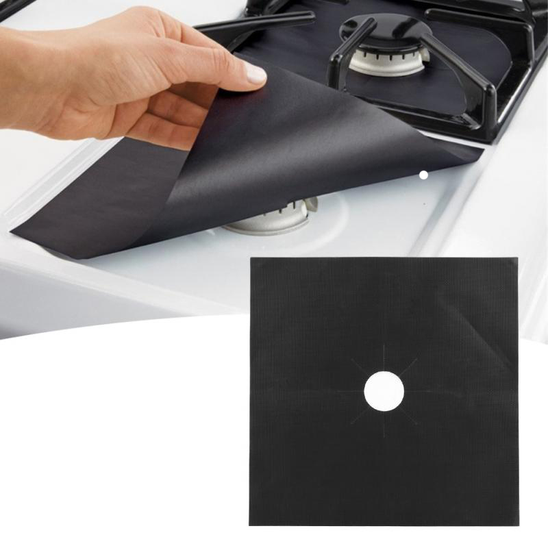 Reusable Gray METANIC 8 Pcs Gas Range Protectors,Stove Burner Covers- Silver Grey Gas Stove Burner Protector Liner Cover Clean Mat Pad Non-Stick Easy to Clean.8 Pack Dishwasher Safe