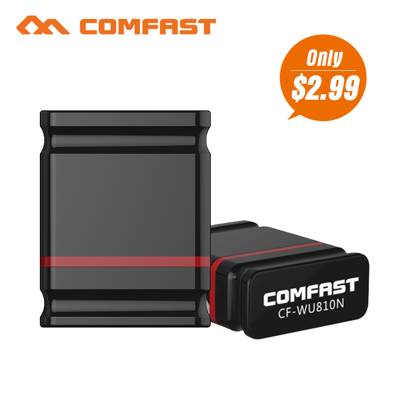 Comfast CF-WU810NMini USB WI-FI 150 м WI-FI адаптер 802.11n/g/b Wi Fi Антенна 150 м Беспроводной LAN сетевой карты wif для рабочего ноутбука