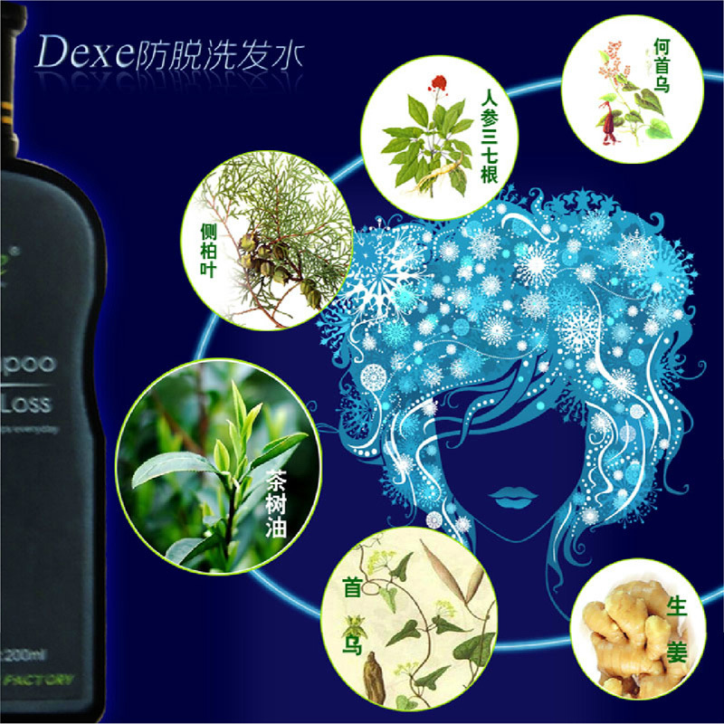 Dexe Hair Shampoo Anti-hair Loss Chinese Herbal Hair Growth Product Anti Dandruff Shampoo 200ml Thickener for Hair Men & Women Multan