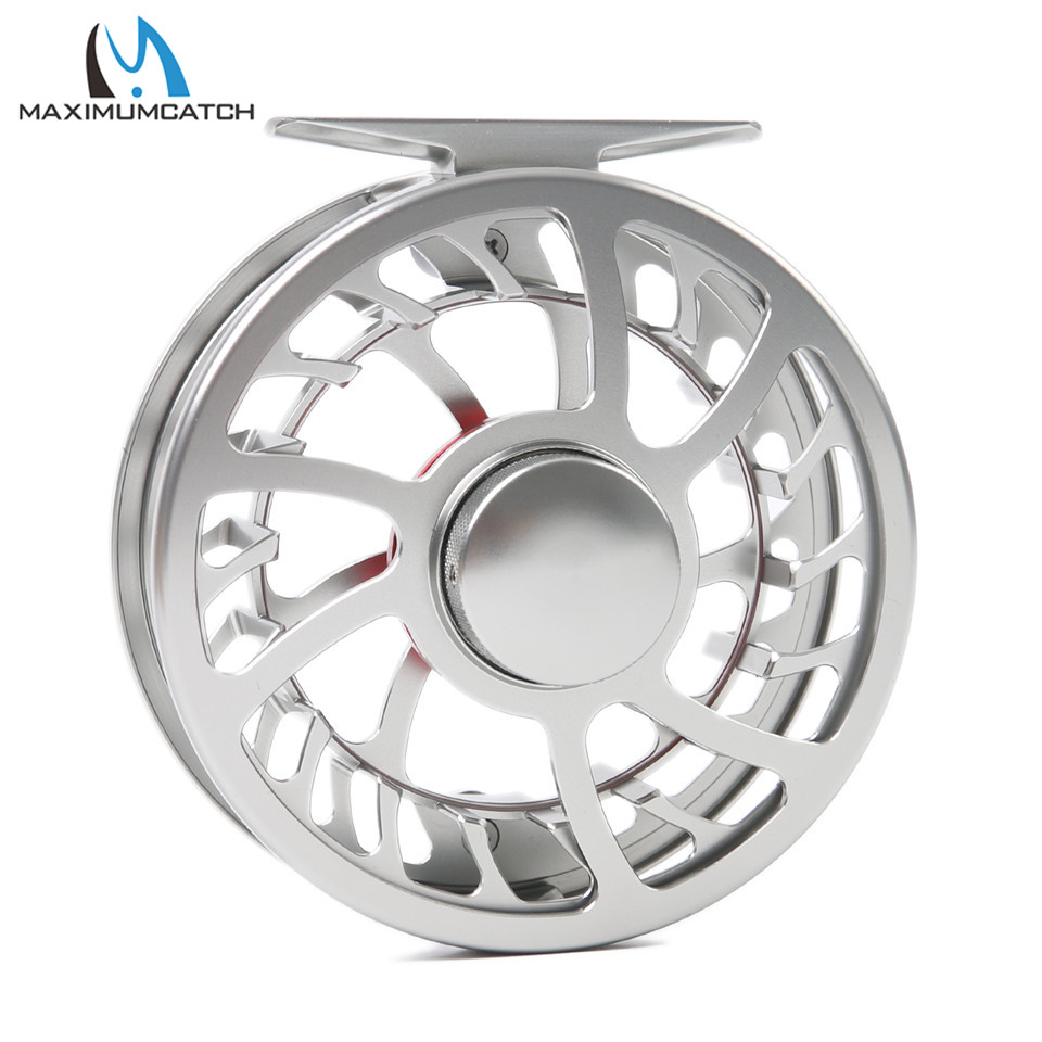 Maximumcatch Excellent Super Light HVC 7/8WT CNC Machine Cut Aluminum Fly Fishing Reel Used in Fresh and Salt Water