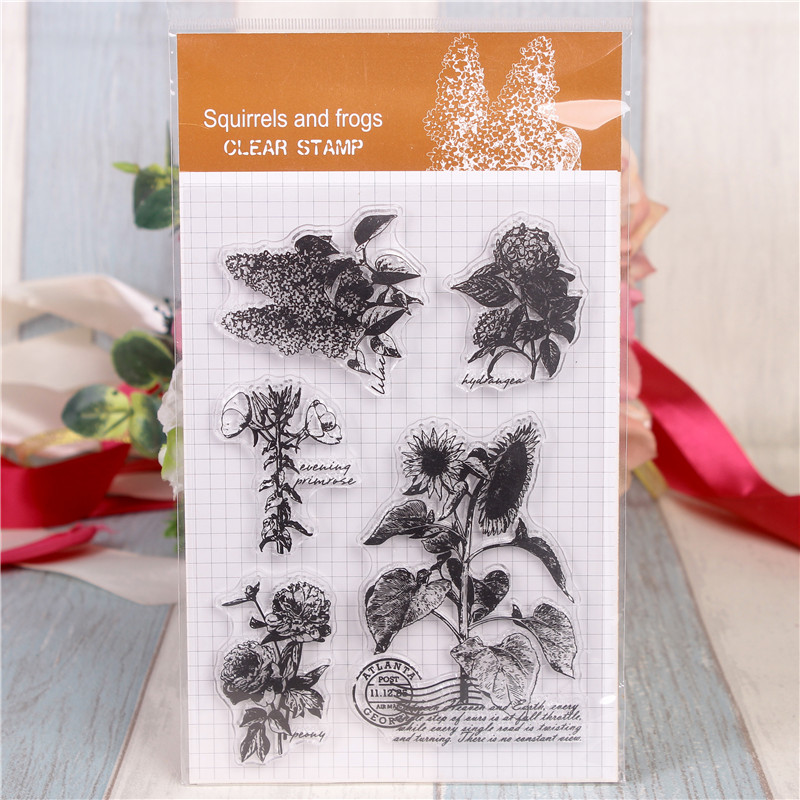все цены на Rubber Silicone Clear Stamps for Scrapbooking Tampons Transparents Seal Background Stamp Card Making Diy Sunflowers Stempel