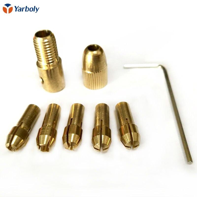 Copper Small Electric Drill Bit Collet Micro Twist Drill Chuck Set T