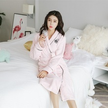 Women Solid Color Cotton Pajamas Nightgown Lingerie Bathrobe With Belt Robes Dressing Gown Shower Sleepwear недорого