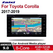 ZaiXi 2din Android 9.0 Octa Core 4GB RAM Car DVD for Toyota Corolla 2017~2019 GPS Radio BT Navi MAP Multimedia player system