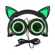 Foldable Flashing Glowing cat ear headphones Gaming Headset Earphone with LED light For PC Laptop Computer Mobile Phone NEW