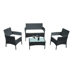 Panana rotin canapé chaise Table ensemble de 4 offre spéciale en osier meubles de jardin Table basse en rotin canapé chaise