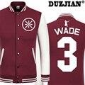 DUZJIAN Primavera nuevo Toro Dwyane Wade chaqueta casual hombres baratos chaquetas de invierno masculina chaqueta de los muchachos hip hop chaquetas juveniles