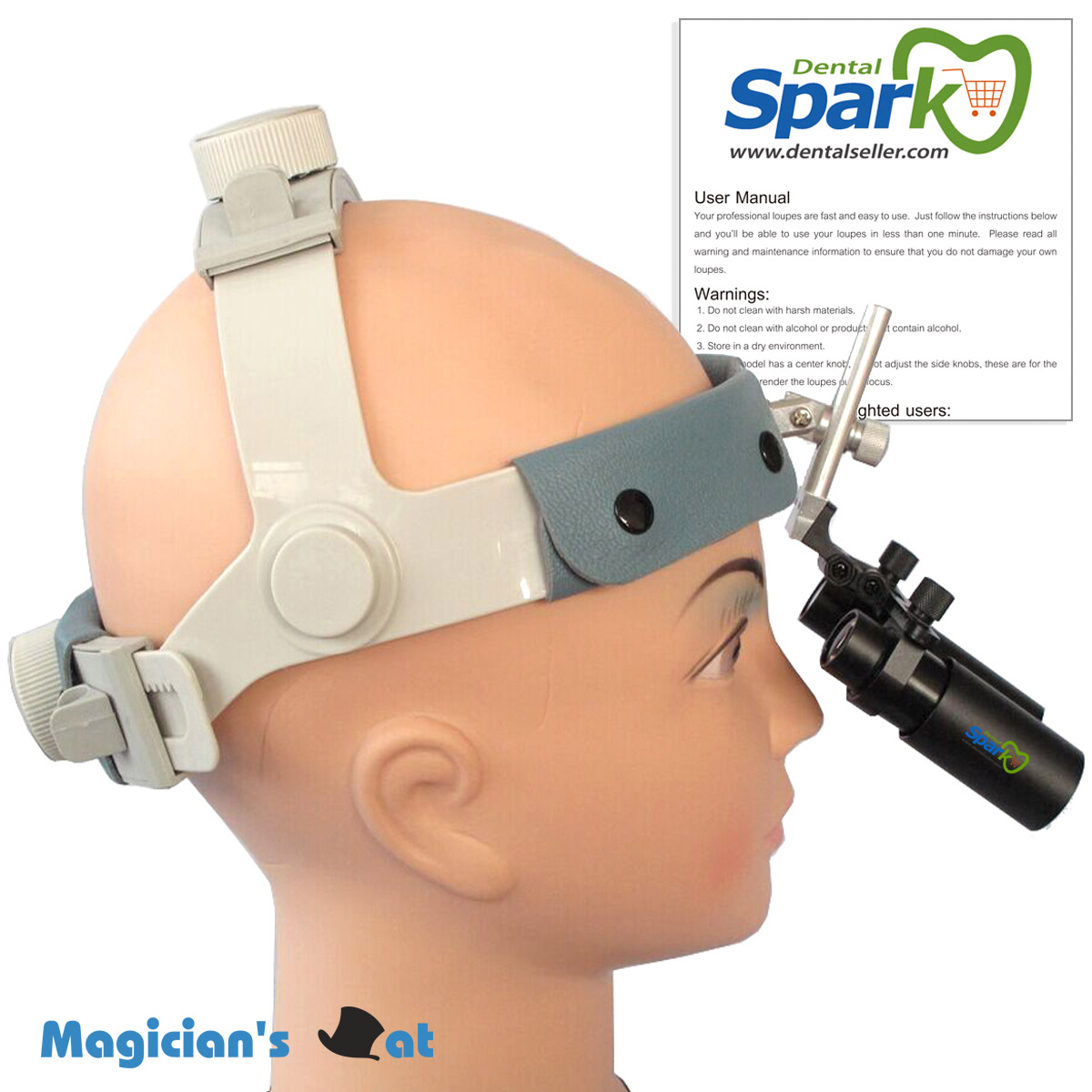 Spark 420mm Working Distance 5.0x Magnification APD Professional Loupes with Comfortable Headband for Dental Surgical spark 5 0x magnification professional