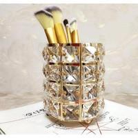 Big Crystal Mermaid makeup brush holder Diamond Rhinestone makeup brush set case makeup brushes organizer container cup cosmetic