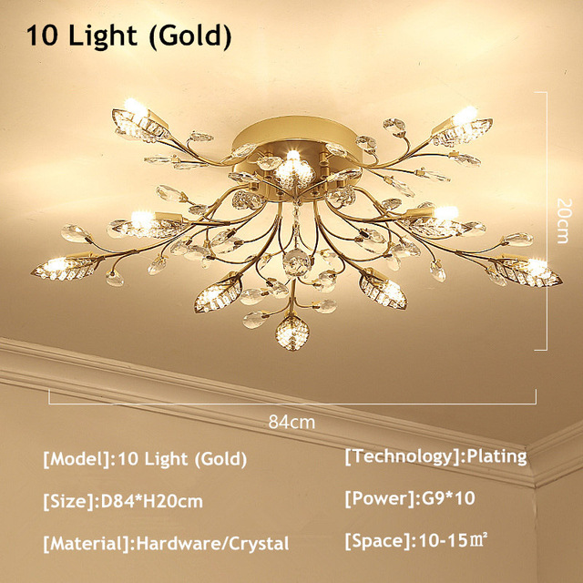 10 Lights Gold