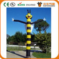 750w air blower 18ft 5.5m 45cm tube customized bee inflatable air dancer  for advertising