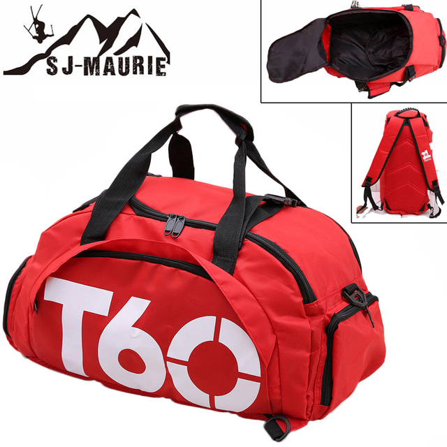 SJ-Maurie Backpack Gym Golf Travel Bag with Shoes Storage Red Black Blue Sporttassen Bag for Sports for Gym