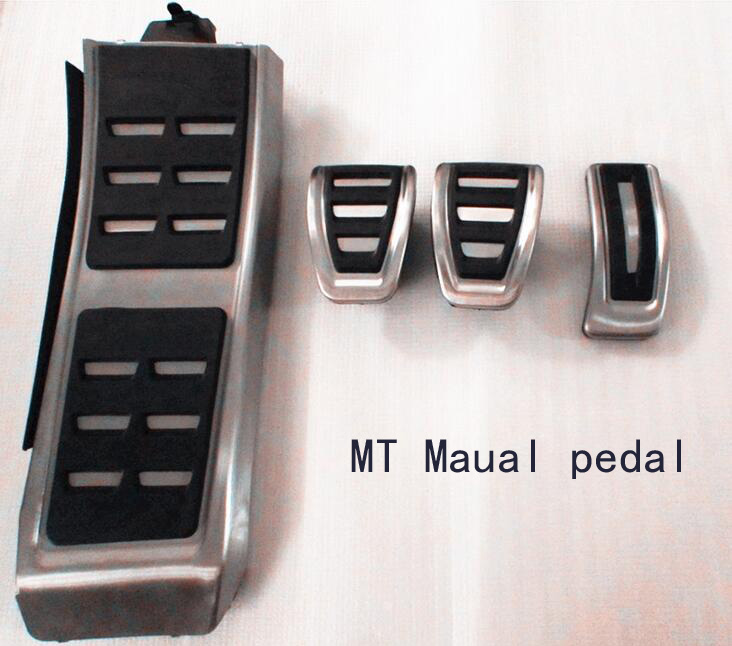 Metal anti-skid car pedal gas Brake pad foot rest cover accelerator for Audi A4 A5 A6(13+) A7 Q5 MT Maual Wholesale
