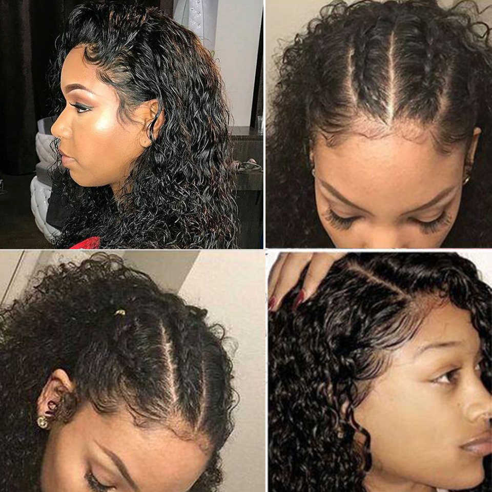 Peluca de verano parte profunda 13X6 corte de pitillo corto Bob encaje frontal pelucas de cabello humano predesplumado pelo de bebé remy brasileño para mujer