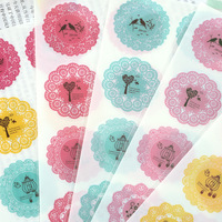 DIY Colorful Fresh lace 3D kawaii Stickers Diary Planner Journal Note Diary Paper Scrapbooking Albums PhotoTag