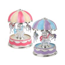 Buy Noise Maker Mini Plastic Music Box Colorful Light Room Bedside Desktop Decor Children New Year Birthday Festival Wedding Gifts directly from merchant!