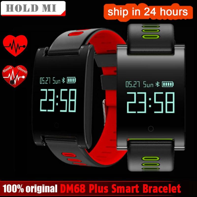 Tenir Mi DM68 PLUS Smart Bracelet Coeur de La Pression Artérielle Moniteur de Fréquence Bluetooth Remise En Forme Bracelet Appel Rappel Activité Tracker