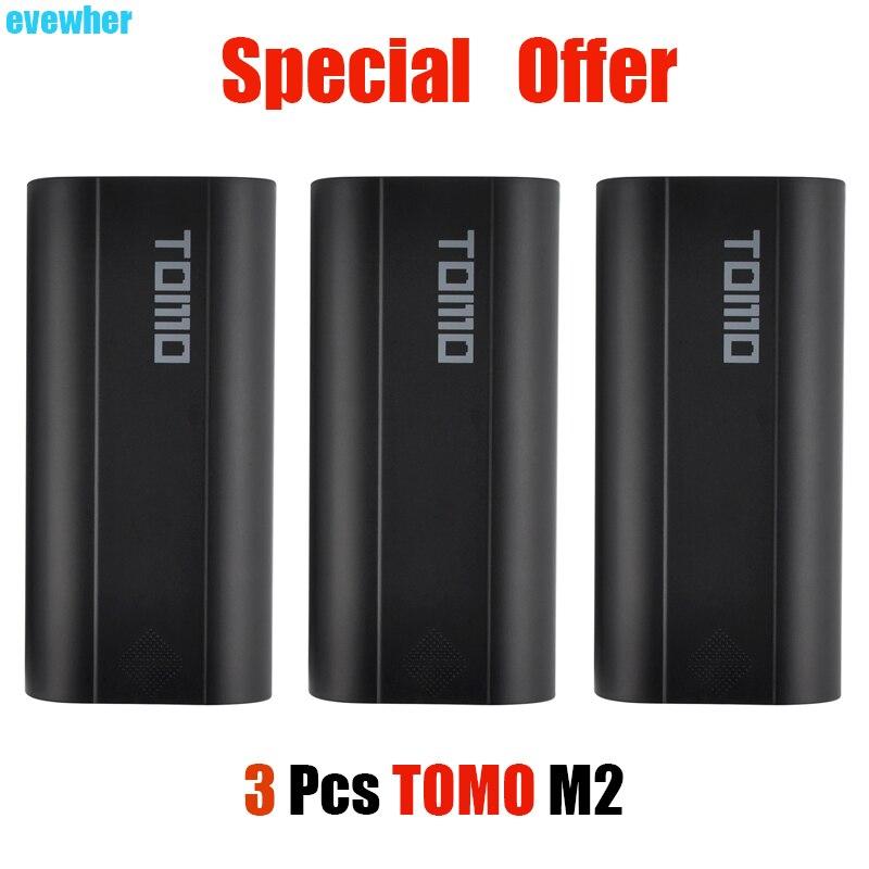 Grande Promotion 3 pièces TOMO M2 Powerbank Boîte 18650 Chargeur de batterie Avec Indicateur LCD housse de batterie portative (Pas De Batterie)