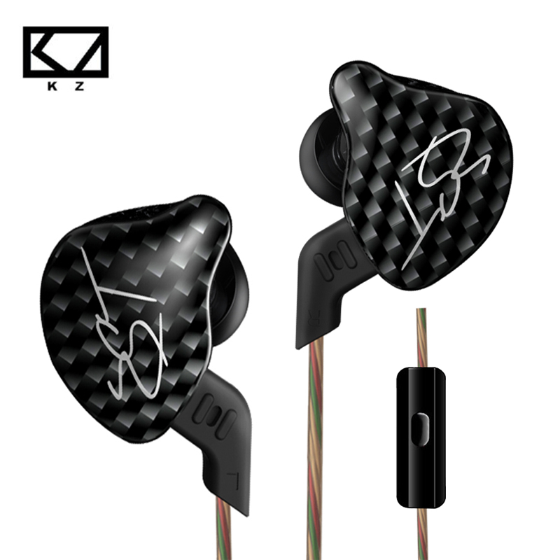100% Original KZ ZST Balanced Armature Dynamic Hybrid Dual Driver Headphones HIFI Earbuds Bass Headset In-ear Earphones With Mic dynamic signature recognition using hybrid wavelets