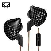 100 Original KZ ZST Balanced Armature Dynamic Hybrid Dual Driver Headphones HIFI Earbuds Bass Headset In