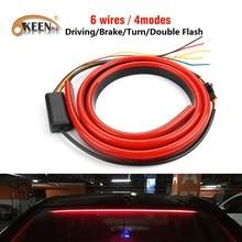 OKEEN 12 V гибкий Красный 90/100 см автомобильные дополнительные светодиодный стоп-сигнал стоп с вождения отложным воротником предупреждающий сигнал стоп