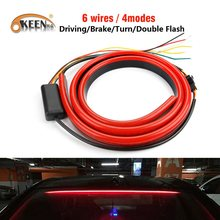 OKEEN 12V Flexible Red 90/100cm Car Additional LED Brake Light Car Third Brake Light With Driving Turn Signal Warning Stop Lamp(China)