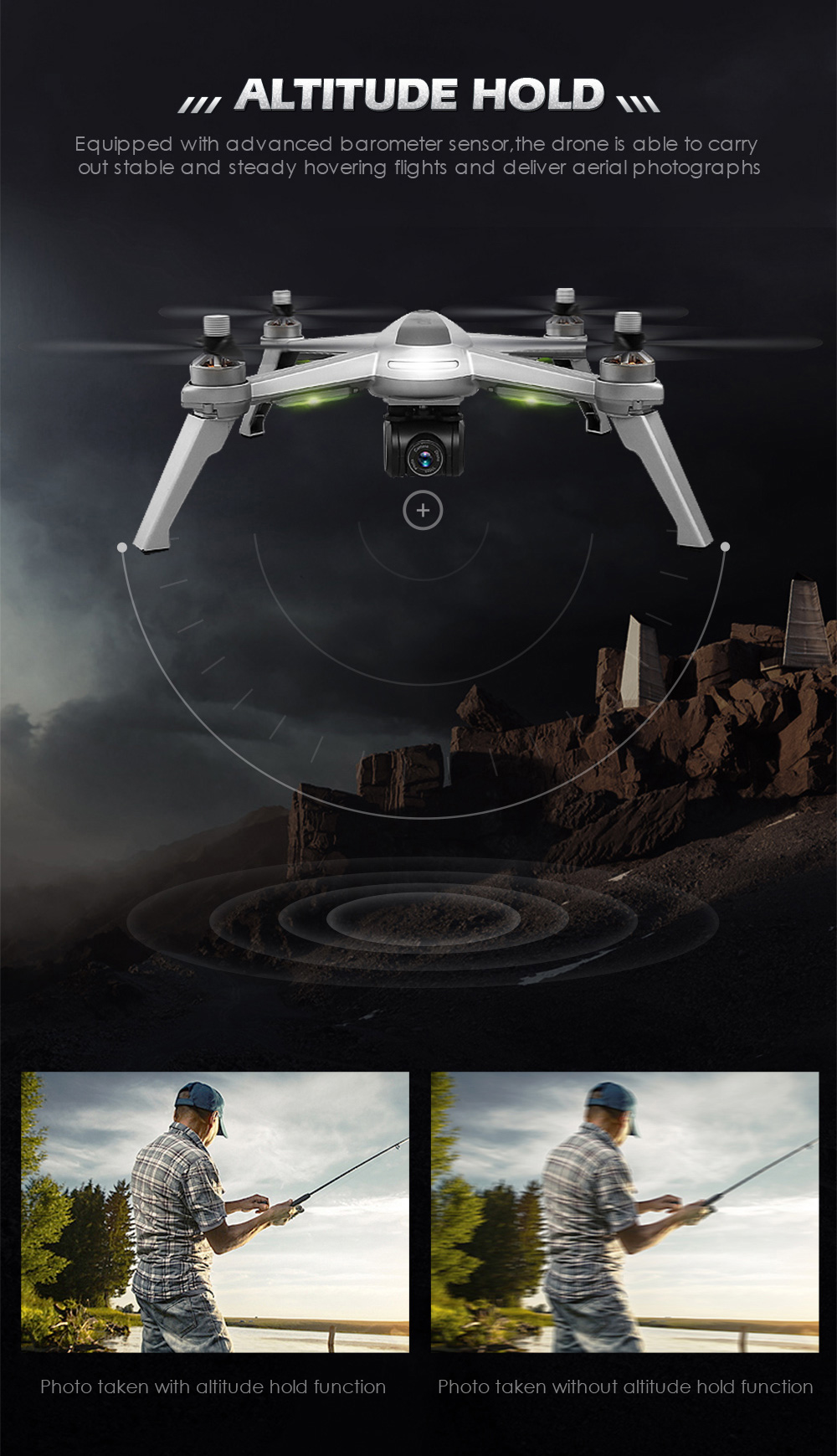 JJRC JJPRO X5 RC Drone 5G WiFi FPV Drones GPS Positioning Altitude Hold 1080P Camera Point of Interesting Follow Brushless Motor 15
