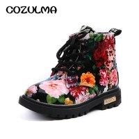 Cozulma Обувь для мальчиков ботинки для девочек элегантный цветочный Цветочный принт Спортивная обувь для детей Сапоги и ботинки для девочек м...