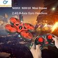 Nh010 h36 mini drone jjrc 2.4 ghz 6-axis rc quadcopter con cabeza modo de una tecla de retorno helicóptero vs h8 h37 dron toys para Kid