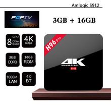 Date H96 Pro Android TV Box Amlogic S912 Octa Core CPU 3G/16G Android 6.0 Gigabit 2.4G/5.8G WiFi BT4.0 Smart Media Player # B6