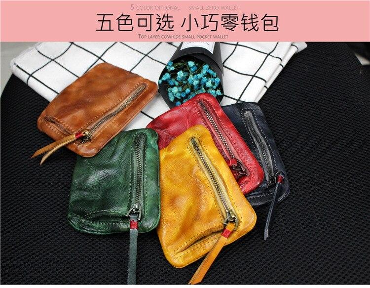 couro curto carteira mini bolsa pequena mudança