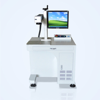 Reasonable Price 30W 2D Code Bar Code Fiber Laser Marking Machine for Plastic Gold Silver