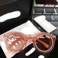 WC07228 2018 роскошные взлетно посадочной полосы Солнцезащитные очки женские брендовые дизайнерские солнцезащитные очки для женщин Картер очки